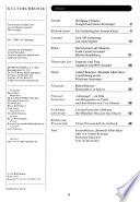 Kultur Chronik  , Bände 19-20
