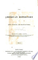 The American Repertory Of Arts Sciences And Manufactures