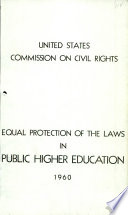 Equal Protection Of The Laws In Public Higher Education 1960