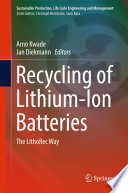 Recycling Of Lithium Ion Batteries