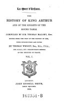 The History of King Arthur and the Knights of the Round Table