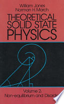 Theoretical Solid State Physics Book