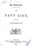 The Navy List corrected to the 20th March 1861