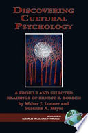 Discovering Cultural Psychology Book