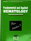 Fundamental and Applied Nematology Book