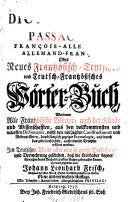 Nouveau dictionnaire des passagers françois-allemand et allemand-français