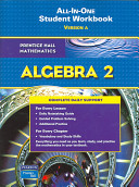 Algebra 2 All In One Student Workbook  Version A Book