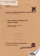 Solar Elevation  Depression and Azimuth Graphs