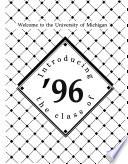 New Student Record  University of Michigan Book