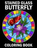 Stained Glass Butterfly Coloring Book