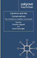 Cameron and the Conservatives Book