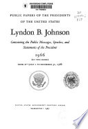 Public Papers of the Presidents of the United States  Lyndon B  Johnson