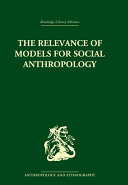 Pdf The Relevance of Models for Social Anthropology Telecharger