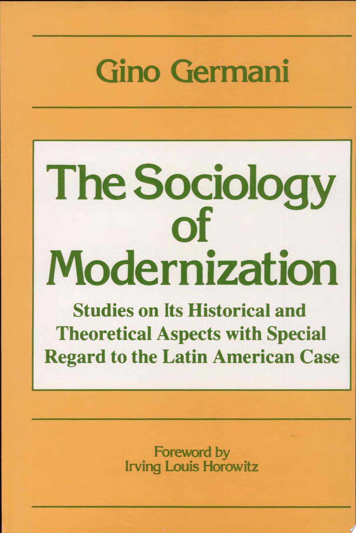 The Sociology of Modernization