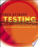Hack Attacks Testing Book