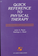 Quick Reference to Physical Therapy