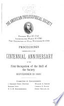 Proceedings of the American Philosophical Society