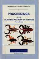 Proceedings of the California Academy of Sciences Book