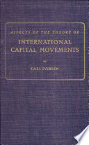 Aspects of the Theory of International Capital Movements