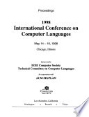 Proceedings of the 1998 International Conference on Computer Languages  : May 14-16, 1998, Chicago, Illinois