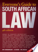 """""""Everyone's Guide to South African Law: 4th Edition"""" by Adriaan Anderson"""