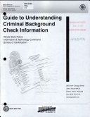 Guide To Understanding Criminal Background Check Information Book PDF