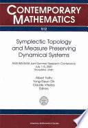 Symplectic Topology And Measure Preserving Dynamical Systems