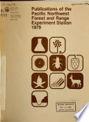 Publications of the Pacific Northwest Forest and Range Experiment Station Book