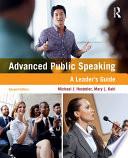 Advanced Public Speaking Book