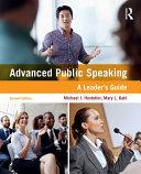 Advanced Public Speaking