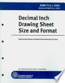Decimal Inch Drawing Sheet Size and Format 2005