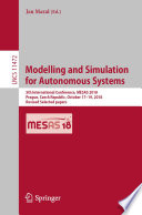 Modelling and Simulation for Autonomous Systems Book