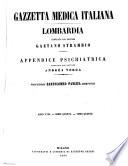 Gazzetta medica italiana, Lombardia