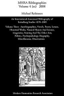 An international annotated bibliography of Strindberg studies 1870 - 2005. 3. Autobiographies, novels, poetry, letters, historical works, natural history and science, linguistics, painting and the other arts, politics, psychopathology, biography, miscellaneous, dissertations