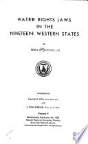 Water Rights Laws in the Nineteen Western States