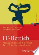 IT-Betrieb  : Management und Betrieb der IT in Unternehmen