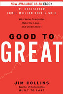 Good to great why some companies make the leap--and others don't