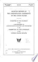 Selected Reports Of The Administrative Conference Of The United States