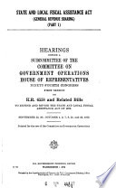 State and Local Fiscal Assistannce Act   general Revenue Sharing      Book
