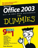 Office   2003 All in One Desk Reference For Dummies