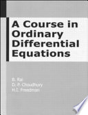 A Course in Ordinary Differential Equations Book
