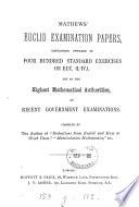 Mathews  Euclid examination papers     on Euc  i  iv Book