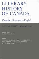 Literary History of Canada Book