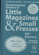International Directory Of Little Magazines Small Presses