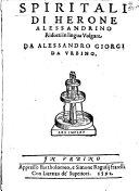 Spiritali di Herone Alessandrino