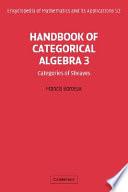 Handbook of Categorical Algebra: Volume 3, Sheaf Theory