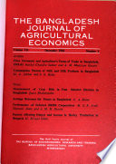 The Bangladesh Journal of Agricultural Economics