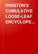 Winston s Cumulative Loose Leaf Encyclope