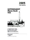 Government Phone Book USA 2005