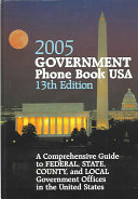 Government Phone Book USA 2005